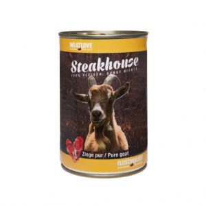 Meat Love -Konzerva-pro-psa-steak-100% -kozi-maso-400g-DOXBOX